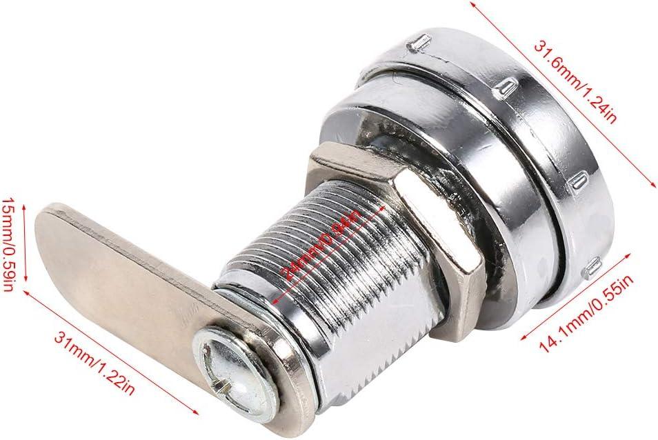 Code Lock-3 Digit Combination Cam Cabinet Silver Zinc Alloy Convenient Password Security Code Lock #1