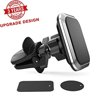Magnetic Phone Car Mount,Larger and Stronger Magnet Upgraded Support Wing to Ensure Stability Universal Air Vent Magnetic Car Mount,Car Phone Holder Fit iPhone Galaxy Google Nexus Any Smartphone