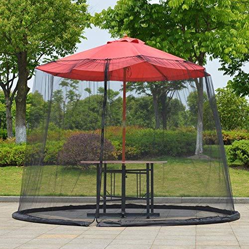 DBSCD Pantalla Paraguas Cubierta Mosquitero, Pantalla de jardín al Aire Libre Paraguas Tabla, con Cierre de Cremallera de la Puerta y Malla de poliéster Red, Fácil de configurar (sin Paraguas)