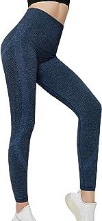 Tuopuda Leggings Donna Fitness Pantaloni Sportivi Push Up Vita Alta Yoga Shorts Leggins Elasticizzati Corsa Palestra Jogge...