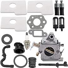 Leopop MS180 Carburetor for STIHL 017 018 MS170 MS180 Chainsaw Parts Zama C1Q-S57 C1Q-S57A C1Q-S57B Carb w Air Filter Oil Fuel Filter Line Spark Plug