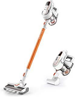 Cordless Vacuum Cleaner, Womow W9 Stick Vacuum Cleaner, 16000pa Powerful Suction, 300W Brushless Motor, Lightweight 2 in 1 Handheld Vacuum with HEPA Filter LED Power Brush for Pet Hair