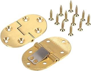 HOOTMALL 2 PCS 90 Degree Solid Brass Butler Tray Hinge Table Flip Top Hinge