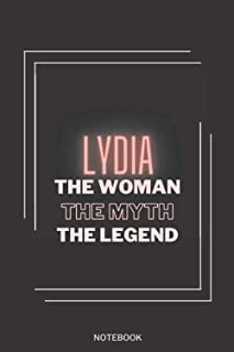 Lydia The Woman The Myth The Legend: Personalized Name Journal for Lydia notebook | Birthday Journal Gift | Lined Notebook...