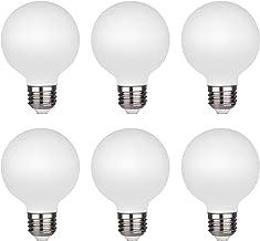 KGC LED Edison Globe Light Bulb, Warm White 2700K CRI 95, LED Filament Light Bulb, 4.5W Equivalent to 40W, G80 Dimmable 45...