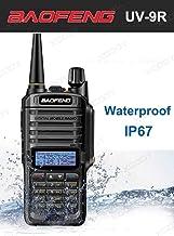 BFTECH Direct Walkie Talkies UV-9R 5W Two Way Radio BF-UV9R IP67 Waterproof Dual Band Ham Radio - Black