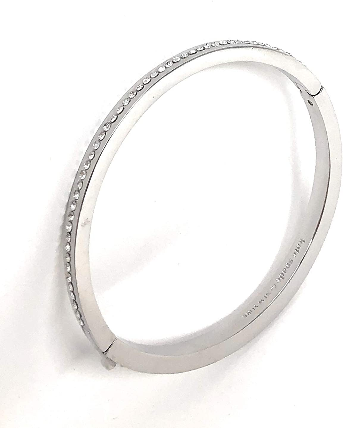 Kate Outlet SALE Spade New York Crystal Directly managed store Bracelet Tone Silver Bangle