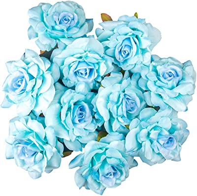 Pack of 25pcs, DinoPure, 10cm Artificial Roses Flower Heads Wedding Decoration Romantic Party,
