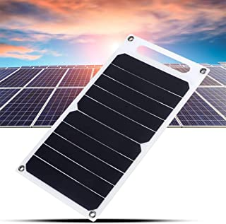 Suchinm Portable Solar Panel Efficient Outdoor Phone Charging Solar Photovoltaic Panel with Handle (26 x 14 cm)