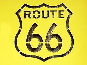 【紙製 ステンシル シート 大】 ルート66 標識型 アメリカ旧国道 ROUTE66 塗装 型紙