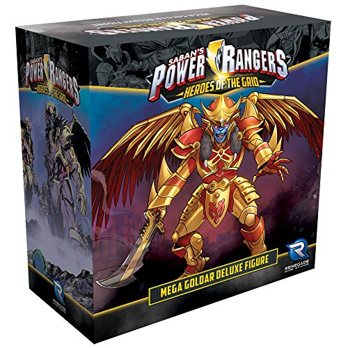 Renegade Game Studios Power Rangers Heroes of the Grid Mega Goldar Deluxe Figure Board Game