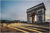 HD ParisFrance-Arc de Triomphe with Traffic Light Trails 9035780(Premium 500 Piece Jigsaw Puzzle for Adults52x38cm)