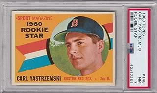1960 Topps #148 Carl Yastrzemski RS PSA 7 NM RC Rookie Boston Red Sox