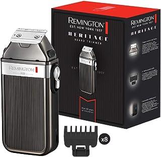 Remington Heritage MB9100 - Recortador de Barba, Cuchillas Acero Inoxidable, 8 Peines, Inalámbrico, Autonomía de 60 minuto...