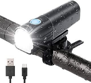 YoJetSing Bike Front Light - 800 Lumen Bike Light - USB Rechargeable - IP67 Waterproof Bicycle Lamp - 85° Floodlight Angle Cycling Headlight for Road, Mountain, Commuter Bicycle