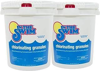 In The Swim Sodium Di-Chlor Chlorine Granular Pool Shock - 80 Pounds (2 x 40 lb. Buckets)