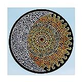 VETPW DIY 5D Luna y Sol Diamante Pintura Kit, Bricolaje Diamond Pasted Painting Bordado De Punto De Cruz Diamante Arts Craft para Decoración de la Pared del Hogar (30x30CM)