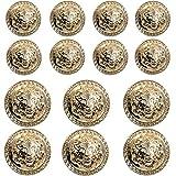 14 Pieces Gold Vintage Antique Metal Blazer...