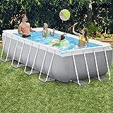 Zoom IMG-1 intex 26788 piscina rettangolare grigio