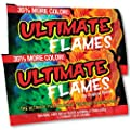 Magical Ultimate Flames Create Colorful & Vibrant Flames for Fire Pit - (12 Pack) - Campfire, Bonfire, Outdoor Fireplace – Magical, Colorful, Rainbow, Mystic – Twice The Color – Half The Price