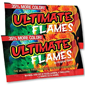 Magical Ultimate Flames Create Colorful & Vibrant Flames for Fire Pit -  12 Pack  - Campfire Bonfire Outdoor Fireplace – Magical Colorful Rainbow Mystic – Twice The Color – Half The Price