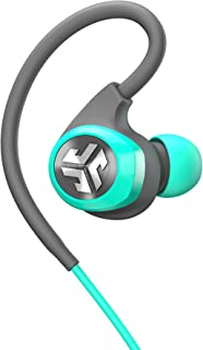 JLab Audio Epic2 Bluetooth 4.0 Wireless Sport Earbuds, GUARANTEED fitness, waterproof IPX5 rated, skip-free sound, pristine high-performance 8mm sound drivers, 12 hr play time w/ microphone - Teal