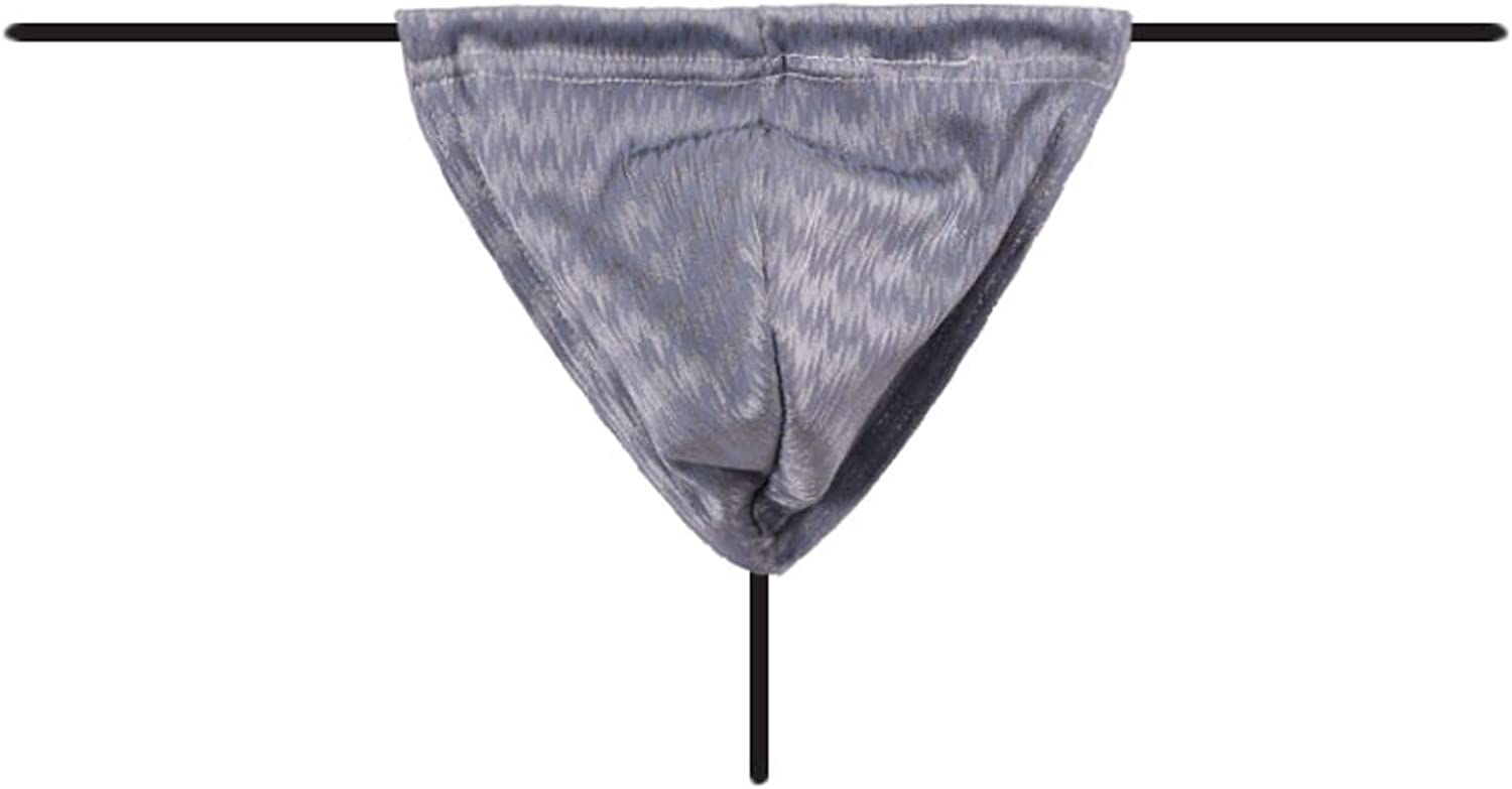 JSPOYOU Men's Briefs Sexy Pouch G-String Underwear Low Rise Bulge Thong Underwear Stretchy T Back Thongs A