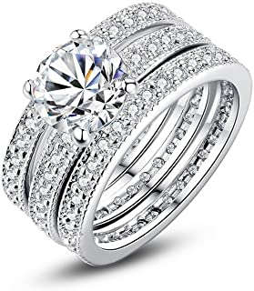 Argollas de Matrimonio en Plata Anillos Sortijas 14k de Compromiso Boda Anel De Prata 925 Joyeria Fina Para Mujer