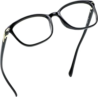 LifeArt Reading Glasses Blue Light Blocking Glasses Women | Computer Eyewear Men | Square Frame Eyewear for Anti Eyestrain (Black, No Magnification)