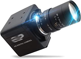 غطاء كاميرا الويب 1080P Full HD For 30fps 60fps 120fps PC Webcam USB Camera, Multiple CS Lenses With Manual Zoom, Used For...