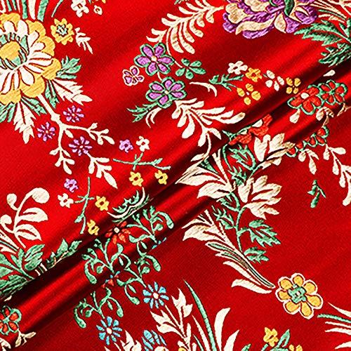 MUYUNXI Tela De Raso Forro De Tela para Vestidos De Novias Fundas Artesanías Vestidos Blusas Ropa Interior 75 Cm De Ancho Vendido por 2 Metro(Color:Gran Rojo)