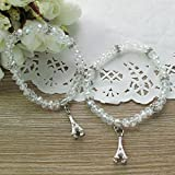 12 Pcs Paris Eiffel Tower Themed Crystal Bracelet Party Favors - Quinceanera/Wedding/Birthday/Baby Shower/Bridal Shower
