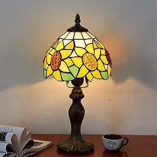 GH-YS Tischlampe für Schlafzimmer Nachttischlampe Sonnenblumenmuster Tischlampe Europäische minimalistische Schreibtischle...