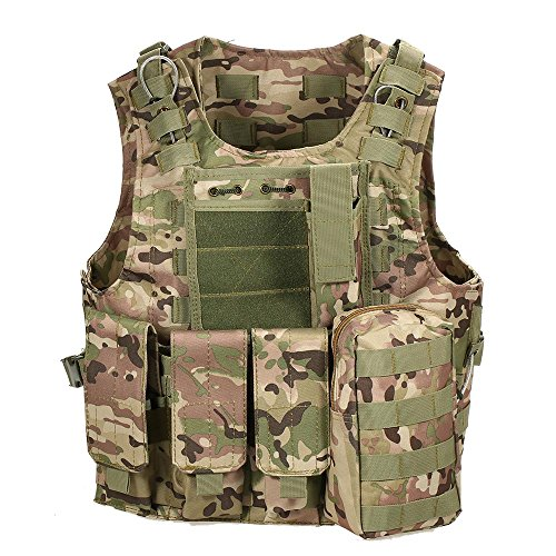 Lixada Taktische Weste Outdoor Molle Weste Modular Gear Carrier Einstellbares Training Gaming Paintball Assault Weste