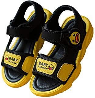Hopscotch Boys PU Velcro Floater in Yellow Color