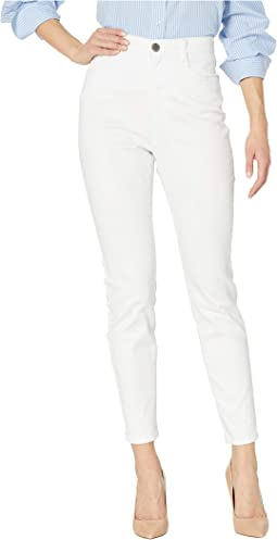 Soft Hues Denim Suzanne Slim Ankle in White