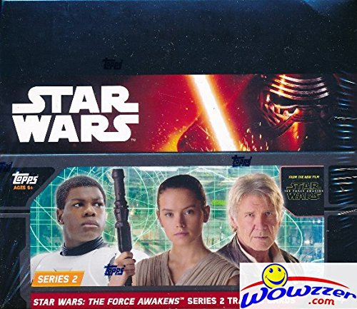 2016 Topps Star Wars the Force Awakens Series 2 MASSIVE Factory Sealed Retail Box with 24 Packs & 144 Cards! Look for Amazing Inserts, Parallels, Autographs, Printing Plates & Sketch Cards! Loaded!
