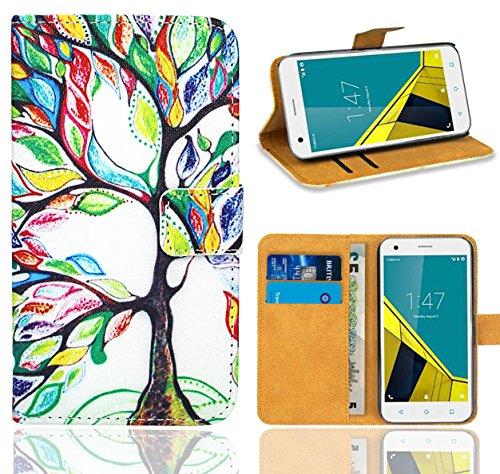 Vodafone Smart Ultra 6 Handy Tasche, FoneExpert® Wallet Hülle Flip Cover Hüllen Etui Ledertasche Lederhülle Premium Schutzhülle für Vodafone Smart Ultra 6 (Pattern 5)