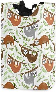 Paresseux Branches d'arbres Feuilles Panier à linge Panier à linge Sac à linge sale Seau pliable Poubelle à laver Jouets O...