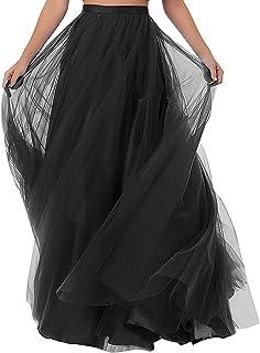204cda67733 CoutureBridal® Femme Jupe Longue Jupe Maxi pour Soirée Mariage Haute Taille  Tulle