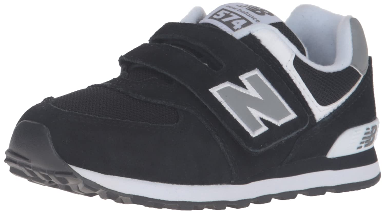 Amazon.com | New Balance Kid's 574 V1 Core Sneaker, Black, 1 M US ...