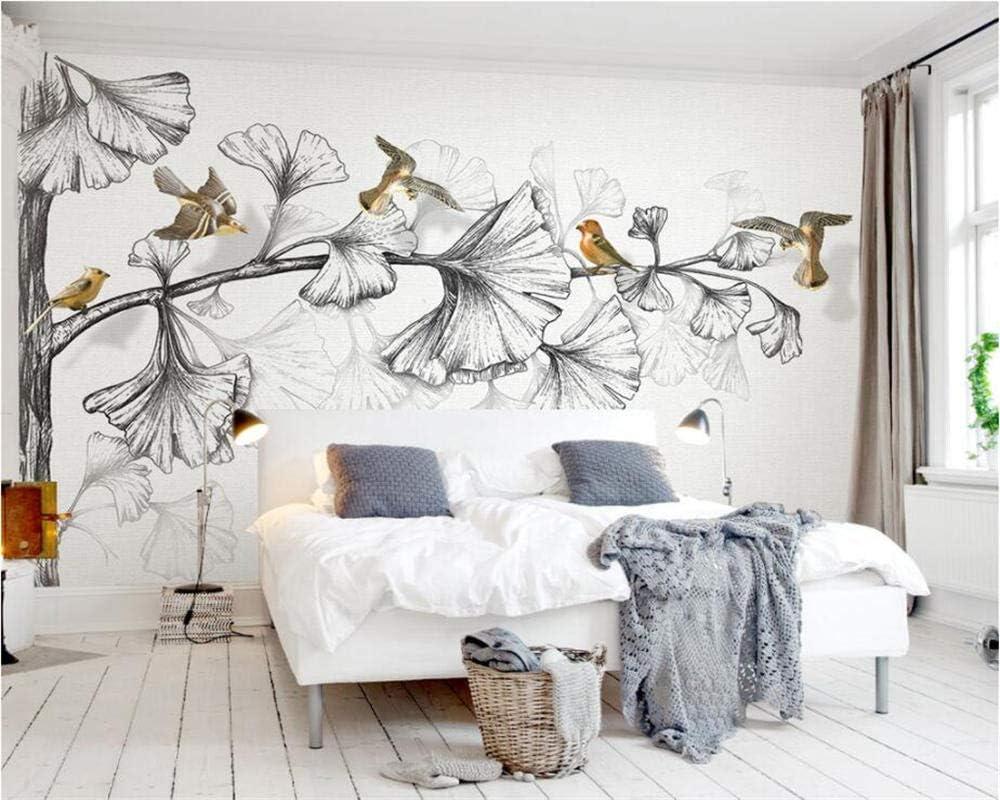ZCLCHQ DIY Wallpaper muralRetroFlowers Translated Non-Woven Ranking TOP2 Birds Wall and