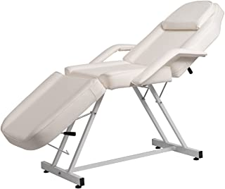 BELLAVIE Massage Facial Bed Adjustable Table Chair Beauty Spa Salon Tattoo Beauty, White
