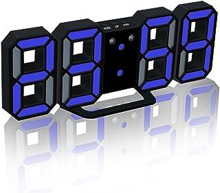 TKSTAR 1 Set LED Digital Alarm Clock 12/24H Time Upgrade Version USB Battery Operated 8888 Wall Mount Clock Adjust 3LED Br...
