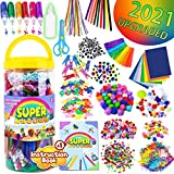 InnoRock Arts and Crafts Supplies for Kids - Assorted Craft Art Supply Kit for Toddlers Age 4 5 6 7 8 9 - All in One D.I.Y. Crafting Materials Set for School Projects Toddler Activities