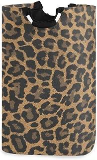 Panier à linge Animal imprimé léopard Grand panier à linge sale pliable Grand sac de rangement en tissu Paniers de rangeme...