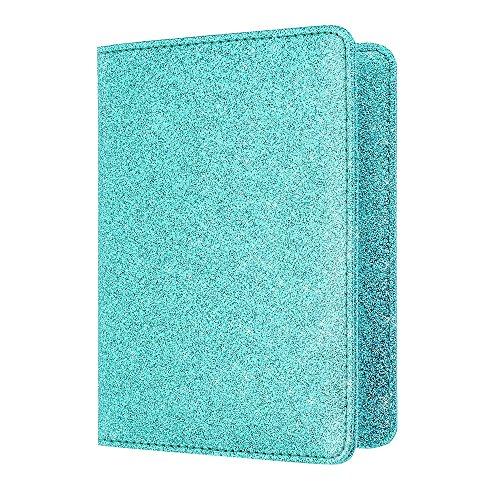 Rucksack Sportbeutel, Taschen SchlüsselanhängerReise Schulsachen Urlaub Wasser Koffer,Bright Surface Antimagnetic Certificate Card Tasche Reisepass-Paket Himmelblau(Himmelblau)