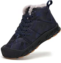 QTMS Kids Waterproof Frosty Snow Boots for Boys Girls