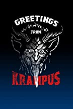 Notebook: Gruss Vom Grampus Greetings from Christmas Devil - Blank Lined Journal For College Students Who Loves Krampus Christmas Demon - 6x9 inches, 120 pages - Distressed Style