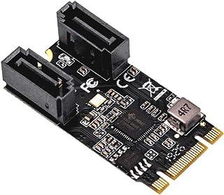 IO Crest M.2 22x42 a SATA III 2 Porte Scheda Adattatore (Jmicro Chipset), Aggiungere Due dispositivi SATA 3.0 a Qualsiasi ...